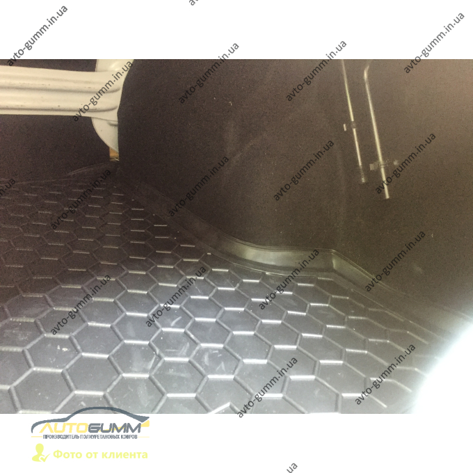 Автомобильный коврик в багажник Renault Logan 2013- Sedan (Avto-Gumm)