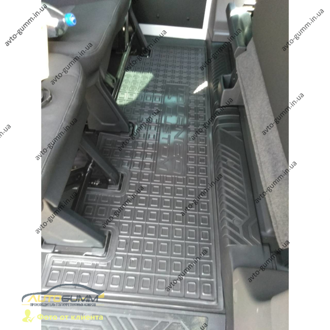 Автомобильные коврики в салон Ford Custom 2012- 3-й ряд (Avto-Gumm)
