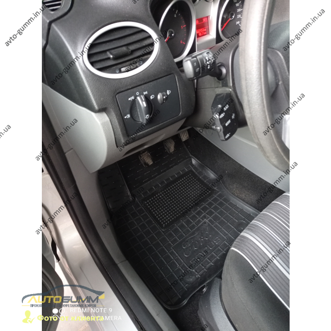 Водительский коврик в салон Ford Focus 2 2004-2010 (Avto-Gumm)