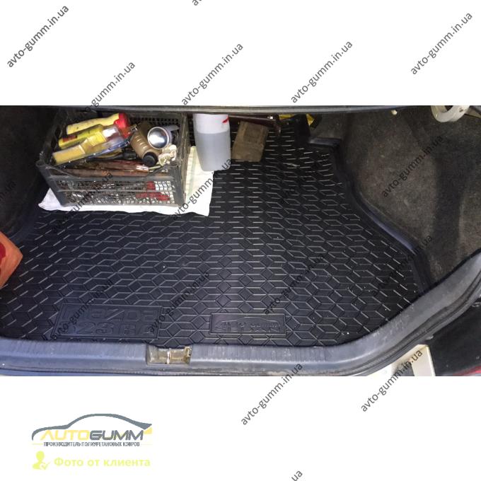 Автомобильный коврик в багажник Mazda 323 BA 1994-1998 Sedan (Avto-Gumm)
