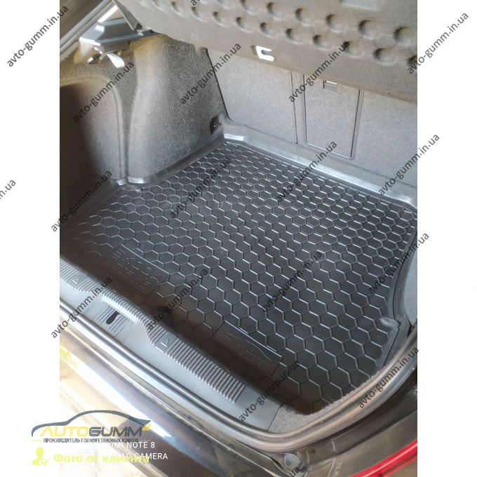 Автомобильный коврик в багажник Skoda Octavia A5 2004- Liftback (Avto-Gumm)