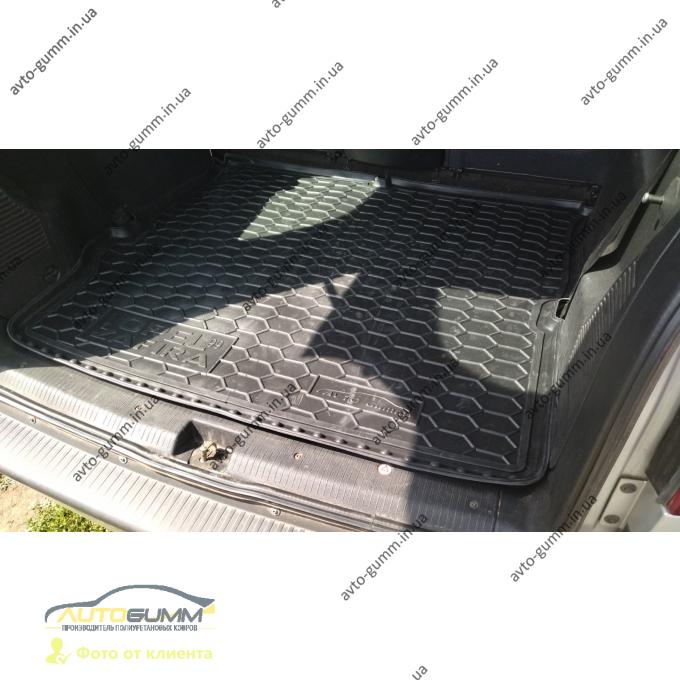 Автомобильный коврик в багажник Opel Zafira A 1999- 5 мест (Avto-Gumm)