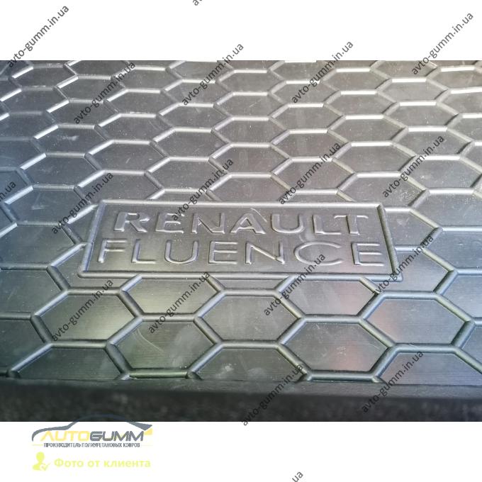 Автомобильный коврик в багажник Renault Fluence 2009- (Avto-Gumm)