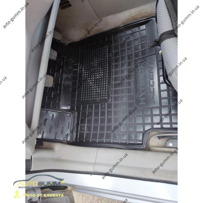 Передние коврики в автомобиль Hyundai Accent 2006-2010 (Avto-Gumm)