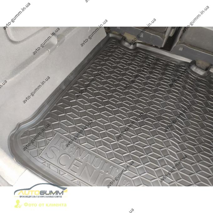 Автомобильный коврик в багажник Renault Scenic 2 2002- 5 мест (Avto-Gumm)