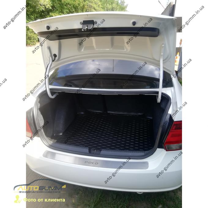 Автомобильный коврик в багажник Volkswagen Polo Sedan 2010- (Avto-Gumm)