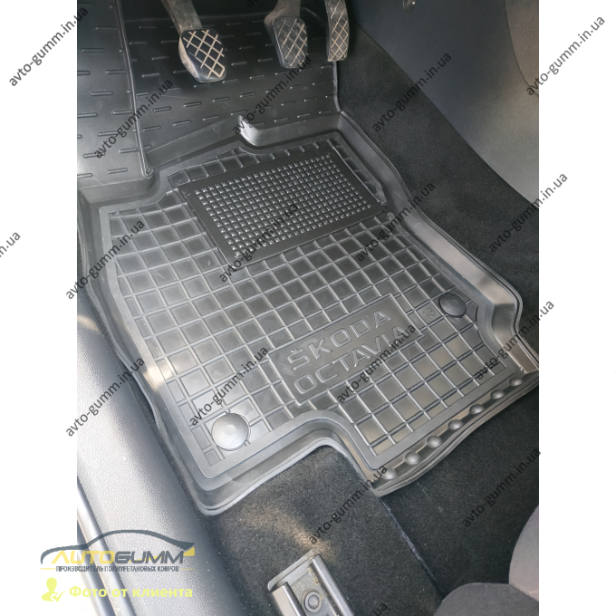 Водительский коврик в салон Skoda Octavia A7 2013- (Avto-Gumm)