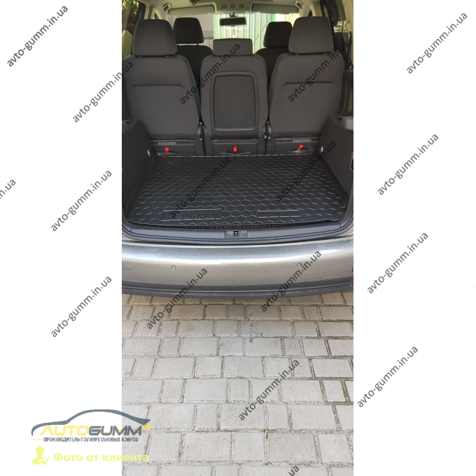 Автомобильный коврик в багажник Volkswagen Touran 2003-2016 (Avto-Gumm)