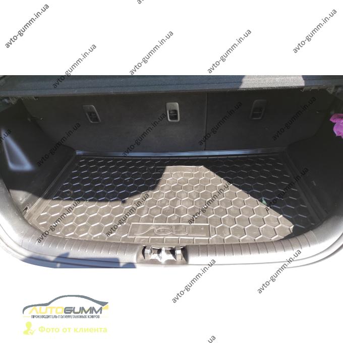 Автомобильный коврик в багажник Kia Soul 2014- (верхний) (Avto-Gumm)