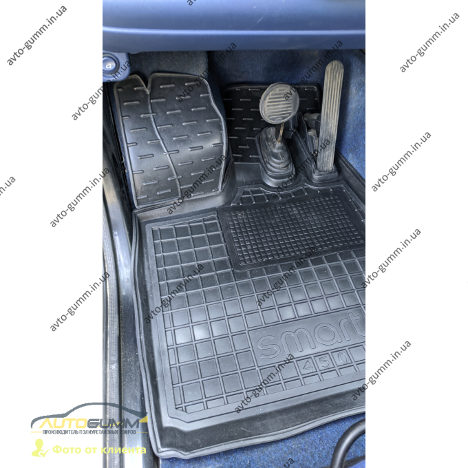 Водительский коврик в салон Smart Fortwo 450 1998-2006 (Avto-Gumm)