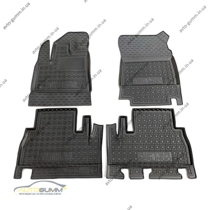 Автомобильные коврики в салон Peugeot Rifter 19-/Citroen Berlingo 19- без подлокотника (Avto-Gumm)