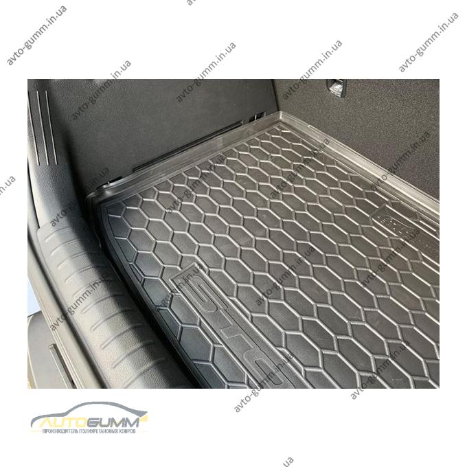 Автомобильный коврик в багажник Kia Stonic 2017- (верхняя полка) (Avto-Gumm)