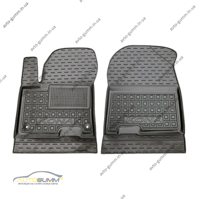 Передние коврики в автомобиль Hyundai Kona 2019- (Avto-Gumm)
