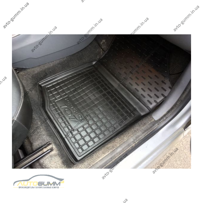 Автомобильные коврики в салон Peugeot 107 2005- (Avto-Gumm)