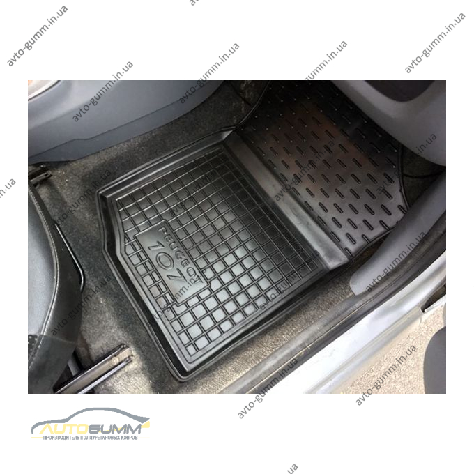 Передние коврики в автомобиль Peugeot 107 2005- (Avto-Gumm)