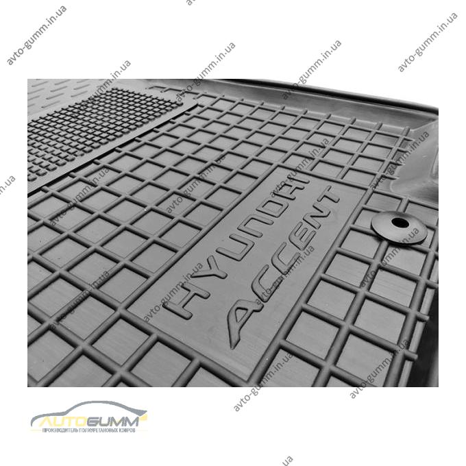 Водительский коврик в салон Hyundai Accent 2011- (RB) (Avto-Gumm)