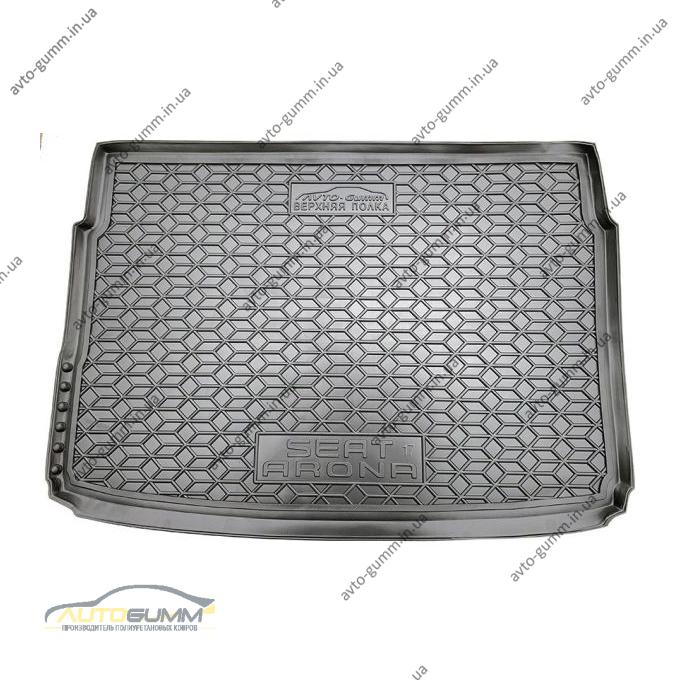 Автомобильный коврик в багажник Seat Arona 2018- верхняя полка (Avto-Gumm)
