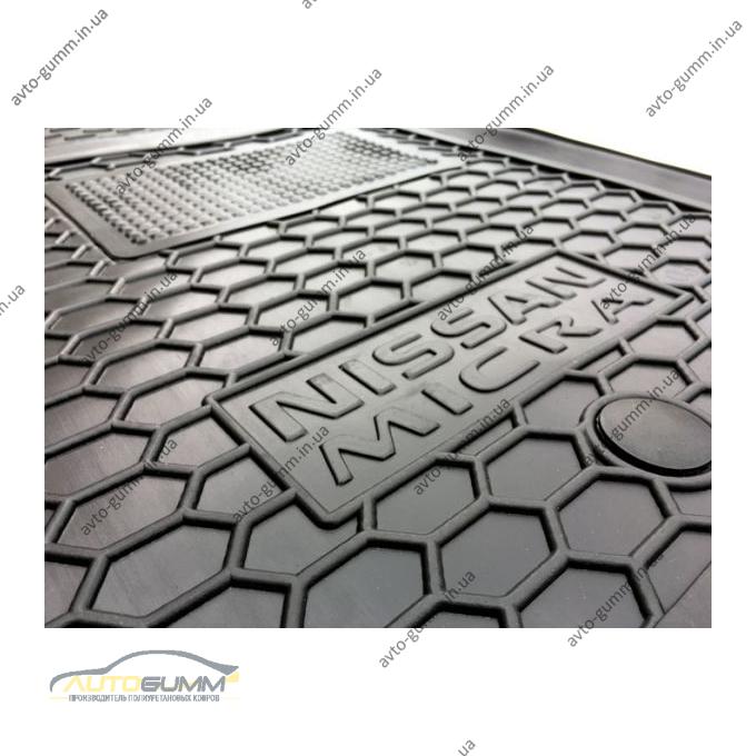 Водительский коврик в салон Nissan Micra (K12) 2002- (Avto-Gumm)