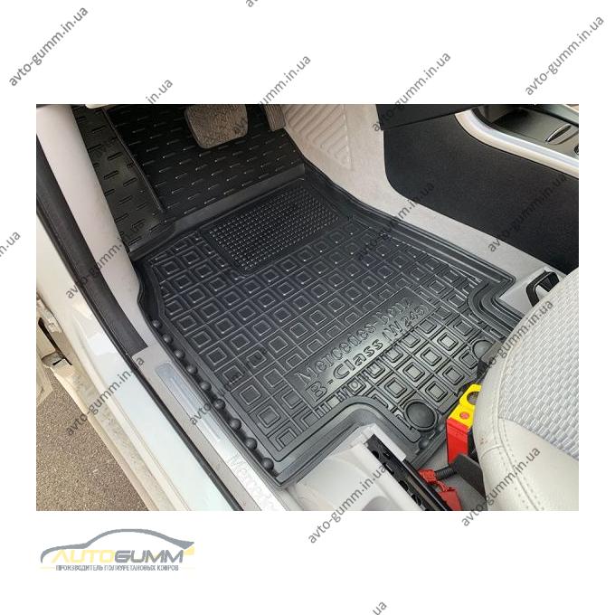 Водительский коврик в салон Mercedes B (W245) 2005-2011 (Avto-Gumm)