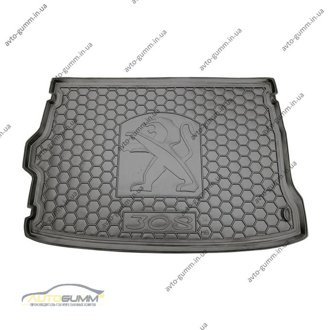 Автомобильный коврик в багажник Peugeot 308 2014- Hatchback (Avto-Gumm)