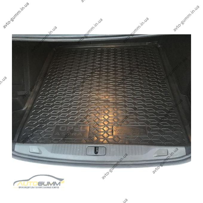 Автомобильный коврик в багажник Opel Astra J 2009- Sedan (Avto-Gumm)