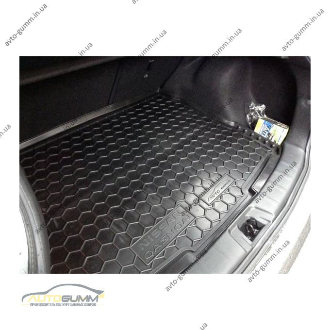 Автомобильный коврик в багажник Nissan Qashqai 2014-2017 (Avto-Gumm)
