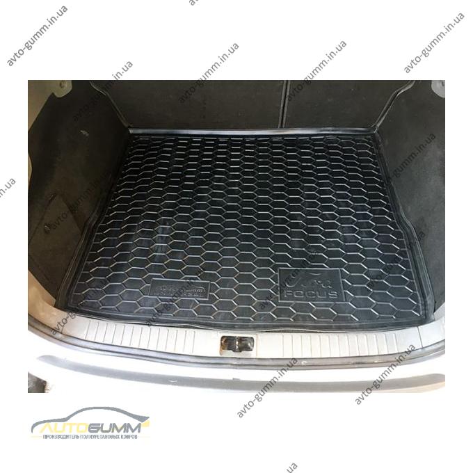 Автомобильный коврик в багажник Ford Focus 2 2004- (Universal) (Avto-Gumm)