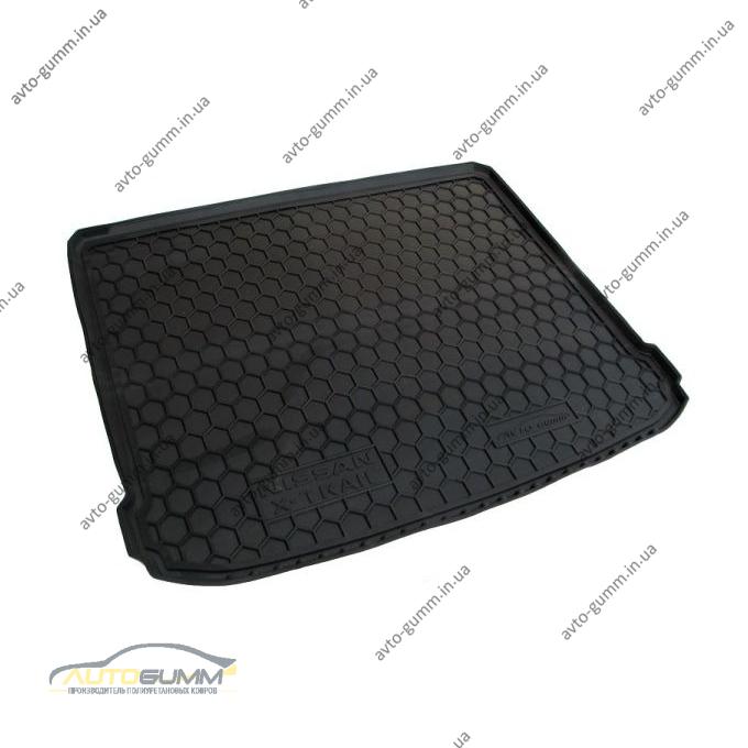 Автомобильный коврик в багажник Nissan X-Trail (T31) 2007- (без полки) (Avto-Gumm)