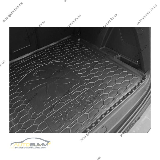 Автомобильный коврик в багажник Peugeot 3008 2017- верхняя полка (Avto-Gumm)