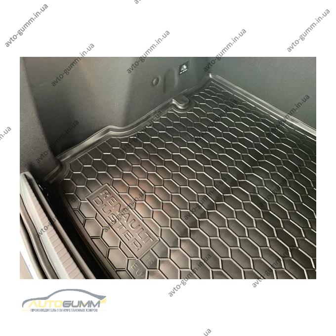 Автомобильный коврик в багажник Renault Duster 2018- (2WD) (Avto-Gumm)