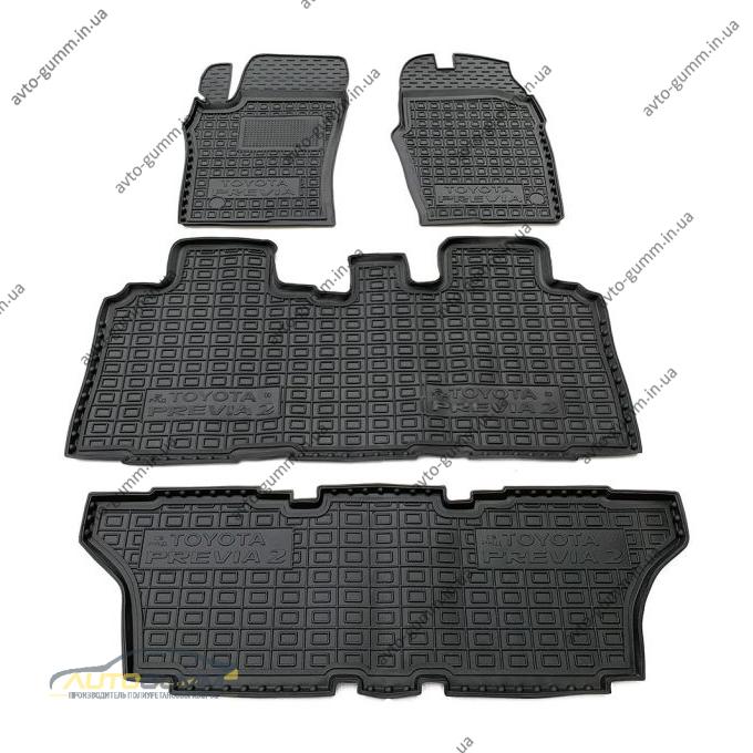 Автомобильные коврики в салон Toyota Previa 2000-2006 6-7 мест (Avto-Gumm)