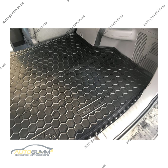 Автомобильный коврик в багажник Toyota Highlander 2 2007- (7 мест) (Avto-Gumm)