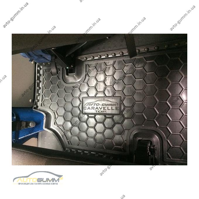 Автомобільні килимки в салон Volkswagen T5 Caravelle 2010- (3-й ряд) с печкой (Avto-Gumm)