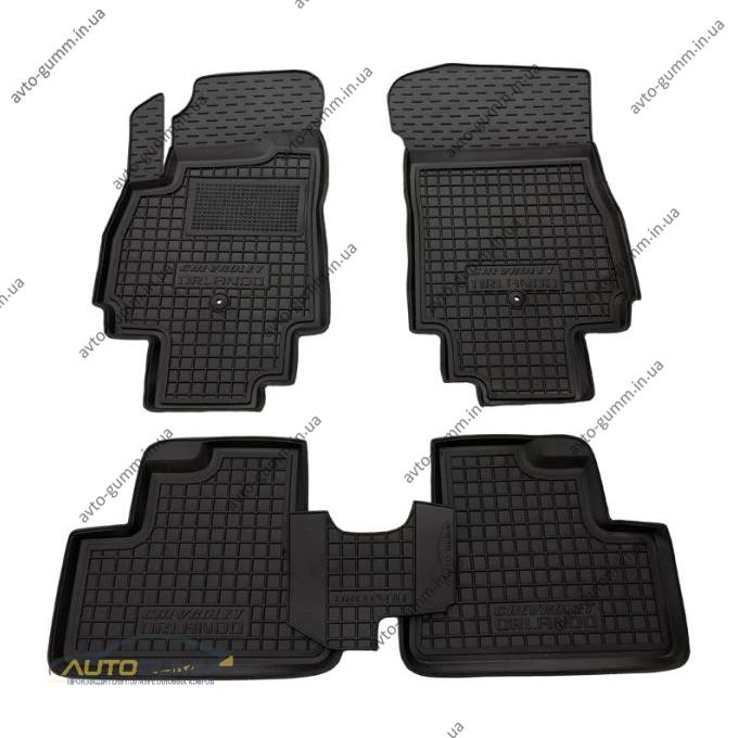 Автомобильные коврики в салон Chevrolet Orlando 2011- (7 мест) (Avto-Gumm)