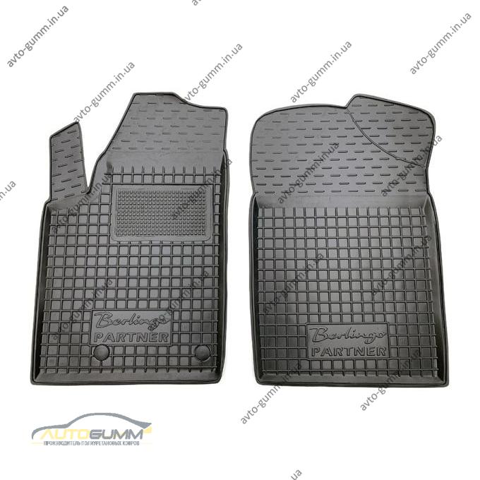 Передние коврики в автомобиль Citroen Berlingo 98-/Peugeot Partner Origin 98- (Avto-Gumm)
