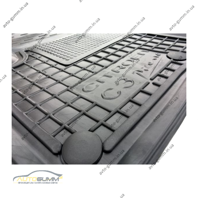 Передние коврики в автомобиль Citroen C3 Picasso 2009- (Avto-Gumm)