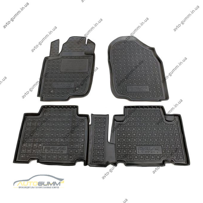 Автомобильные коврики в салон Toyota RAV4 2005- Long (Avto-Gumm)