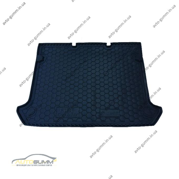 Автомобильный коврик в багажник Fiat Doblo 2000- (без решетки) (Avto-Gumm)