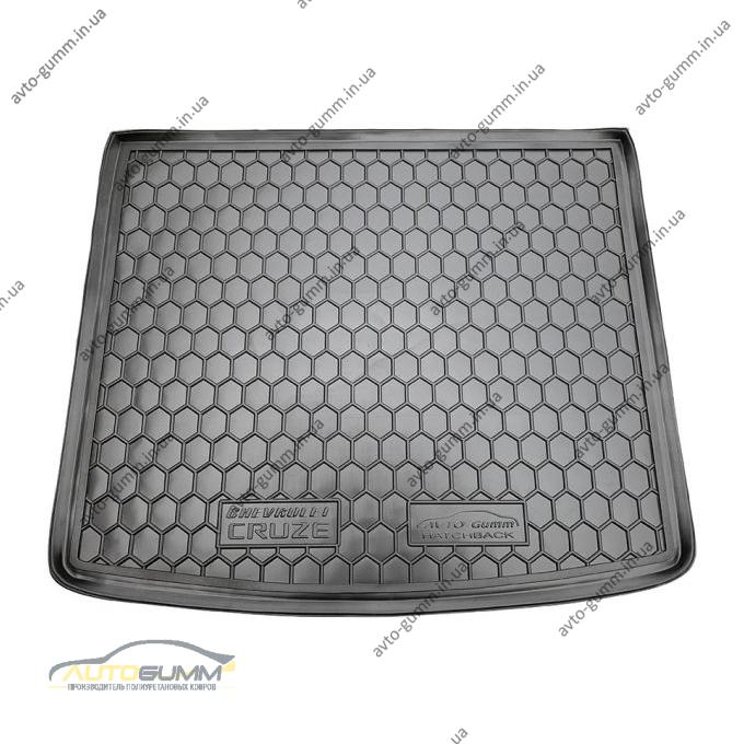 Автомобильный коврик в багажник Chevrolet Cruze 2011- Hatchback (Avto-Gumm)