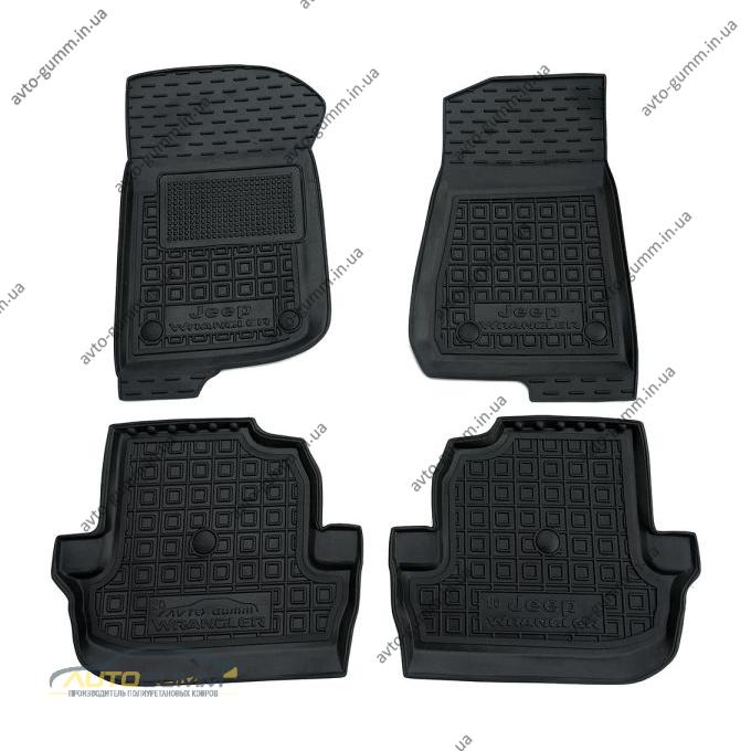 Автомобильные коврики в салон Jeep Wrangler 2018- 2 двери (Avto-Gumm)