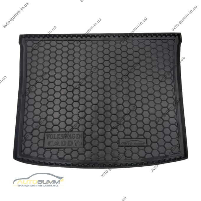 Автомобильный коврик в багажник Volkswagen Caddy 2004- (Avto-Gumm)