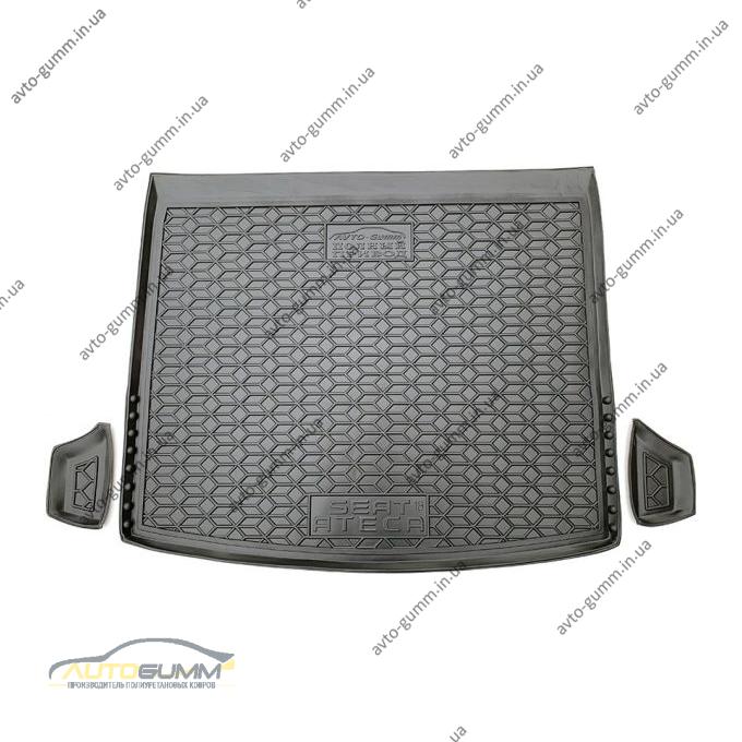 Автомобильный коврик в багажник Seat Ateca 2016- 4wd (Avto-Gumm)