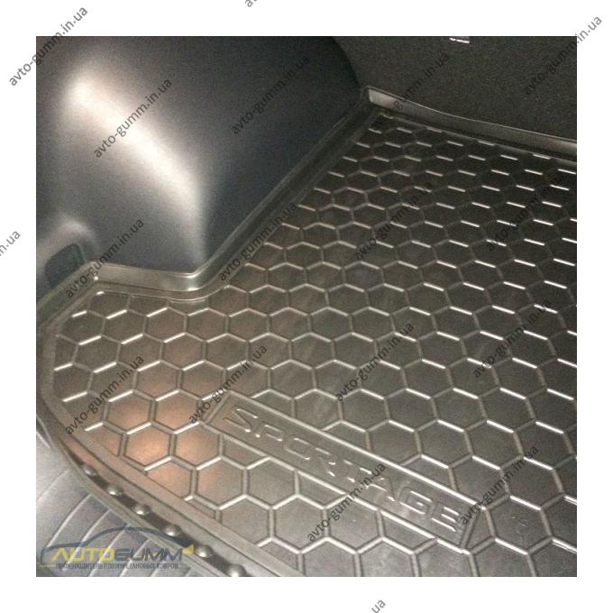 Автомобильный коврик в багажник Kia Sportage 4 2016- (Avto-Gumm)