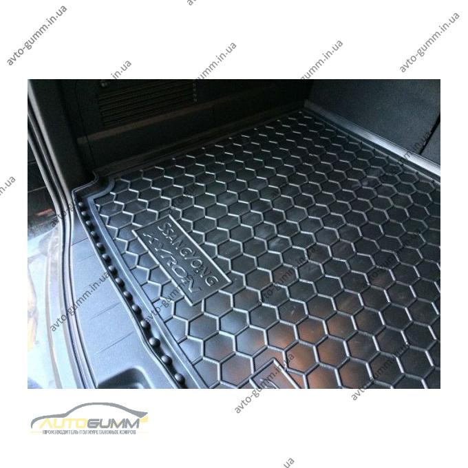 Автомобильный коврик в багажник SsangYong Kyron 2007- (Avto-Gumm)