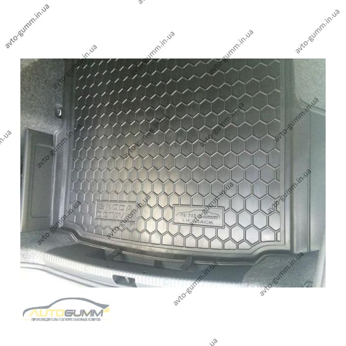 Автомобильный коврик в багажник Skoda Octavia A7 2013- Liftback (Avto-Gumm)
