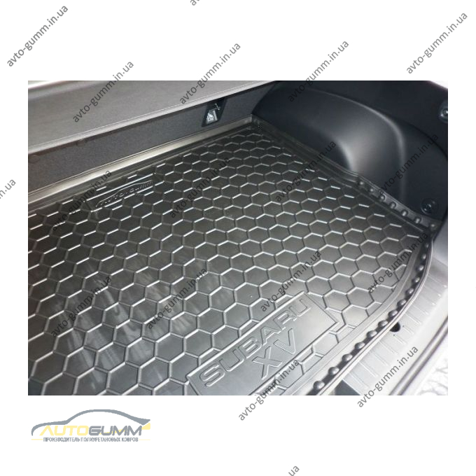 Автомобильный коврик в багажник Subaru XV 2012- (Avto-Gumm)