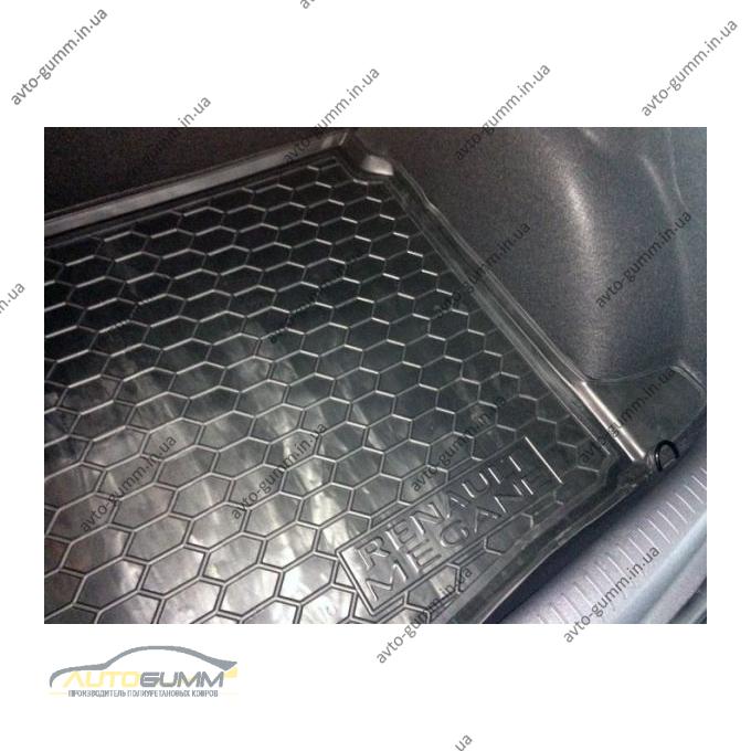 Автомобильный коврик в багажник Renault Megane 4 2016- Hatchback (Avto-Gumm)