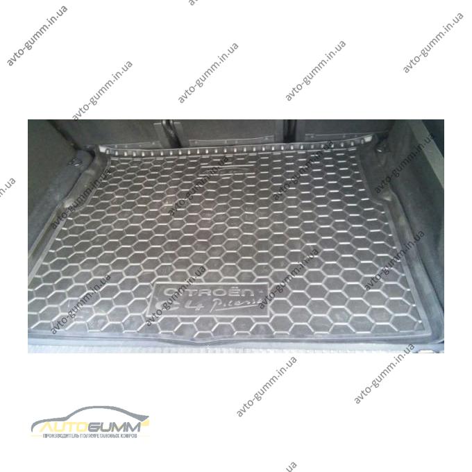 Автомобильный коврик в багажник Citroen C4 Picasso 2014- (Avto-Gumm)