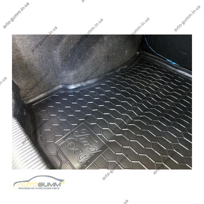 Автомобильный коврик в багажник Ford Focus 1 1998- Sedan (Avto-Gumm)