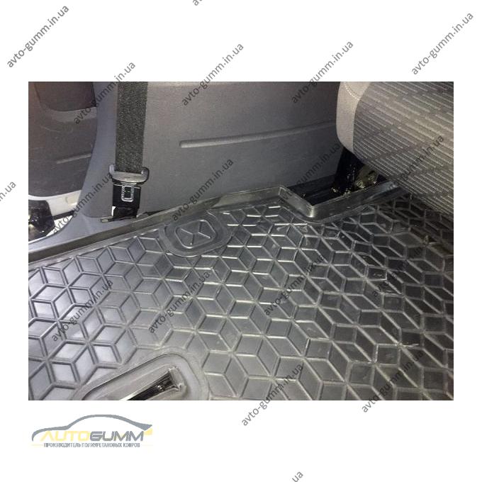Автомобильный коврик в багажник Volkswagen Caddy Maxi 2004- 7 мест (Avto-Gumm)